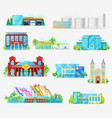 municipal city buildings industrial architecture vector image
