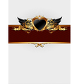 ornate frame with heart form vector image