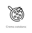 outline crema catalana icon isolated black simple vector image vector image