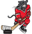 panther sports logo mascot hockey vector image vector image