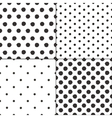 Polka dot black and white painted seamless vector image vector image