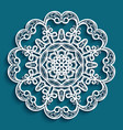round lace doily vector image vector image