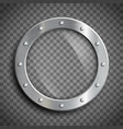 round window porthole vector image vector image
