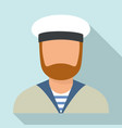 sailor avatar icon flat style vector image vector image