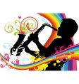 Saxophonist vector image