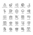search engine and optimization productive icons vector image vector image