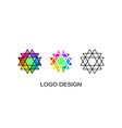 set of three geometrical logo template vector image vector image