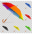 set realistic umbrellas vector image vector image