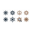 ship wheel graphic design template vector image vector image