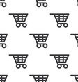 shopping cart seamless pattern vector image vector image