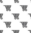 shopping cart seamless pattern vector image