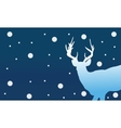 Silhouette of deer Christmas winter vector image vector image
