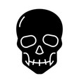 skull icon black sign on vector image vector image