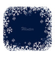 snow square frame vector image vector image