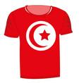 t-shirt flag tunisia vector image vector image