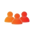 Team work sign Orange applique isolated vector image vector image