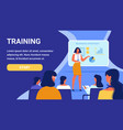 training for woman course business strategy vector image vector image