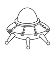 UFO kid toy icon vector image vector image