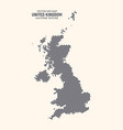 united kingdom hex map isolated on light vector image