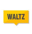 waltz price tag vector image vector image