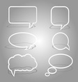 white dialog bubbles set vector image
