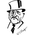 william somerset maugham cartoonized portrait vector image