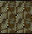 zigzag radial 3d seamless pattern vector image