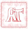 AT monogram vector image