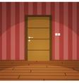 Room With Door vector image