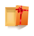 gift box with red ribbon flower and pattern vector image