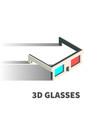 3d glasses icon symbol vector image