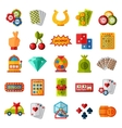 Casino icons set isolated vector image