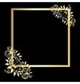 Vintage gold frame on black background vector image