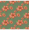Pattern with lilies vector image