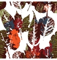 Abstract autumn seamless pattern with leaves vector image vector image