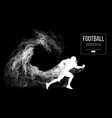 abstract silhouette a american football player vector image vector image