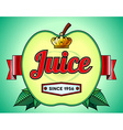 Apple juice label vector image