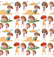 beach kids seamless pattern vector image vector image