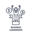business leadership line icon concept business vector image vector image