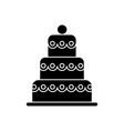 cake big - 3 levels icon vector image