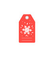 christmas gift tag with snow vector image