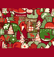 christmas seamless modern background vector image vector image