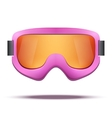 Classic vintage old school pink snowboard ski vector image vector image