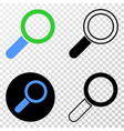 composition of gradiented dotted magnifier tool vector image