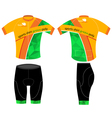 Cycling sports shirt vector image vector image