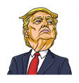 donald trump the president of the united states vector image vector image