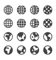 earth icon set vector image