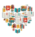 Education background with books in flat design vector image vector image