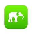 elephant icon green vector image vector image
