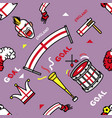 england soccer supporter gear seamless pattern vector image vector image